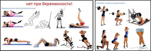 Какие упражнения нельзя при беременности