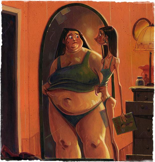 Девушка быстро похудела