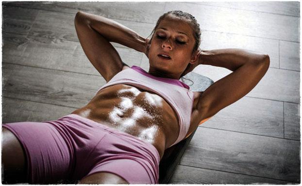 Упражнения для сушки живота