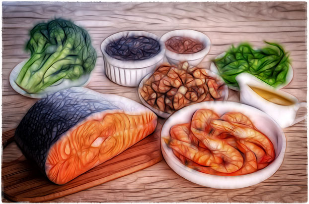 Питание с омега-3 продуктами