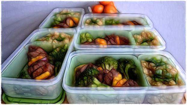 Судки с едой для бодибилдинга