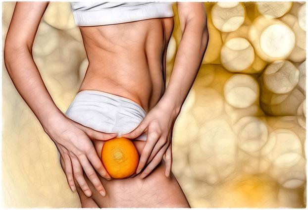 Апельсиновая корка у девушки