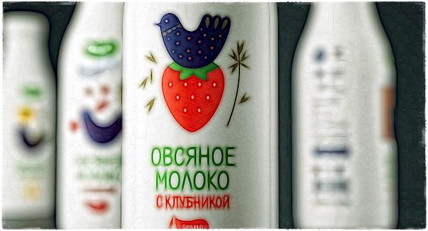 Овсяное молоко в бутылках