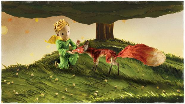 Лис и мальчик под деревом