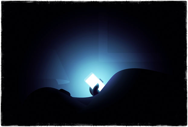 Свет смартфона влияет на сон
