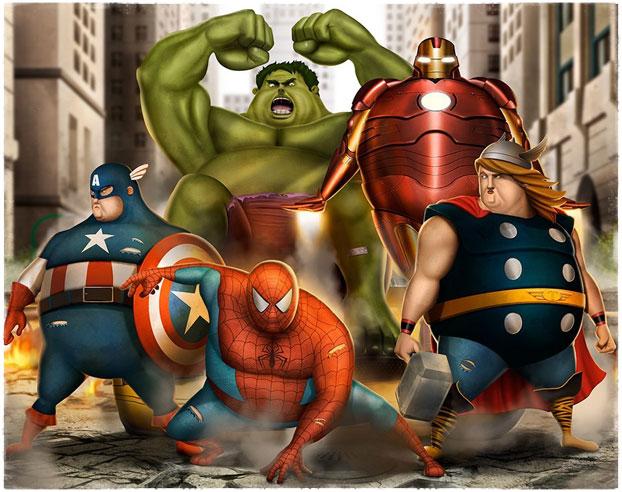 Толстые супергерои