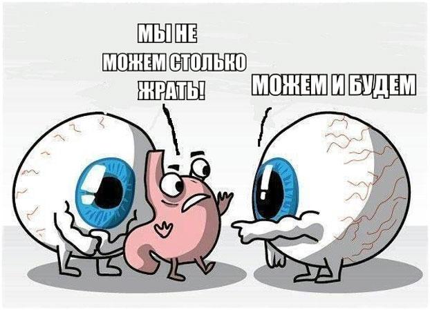 Глаза и желудок