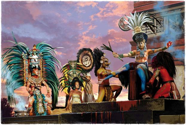 Ацтеки приносят жертву